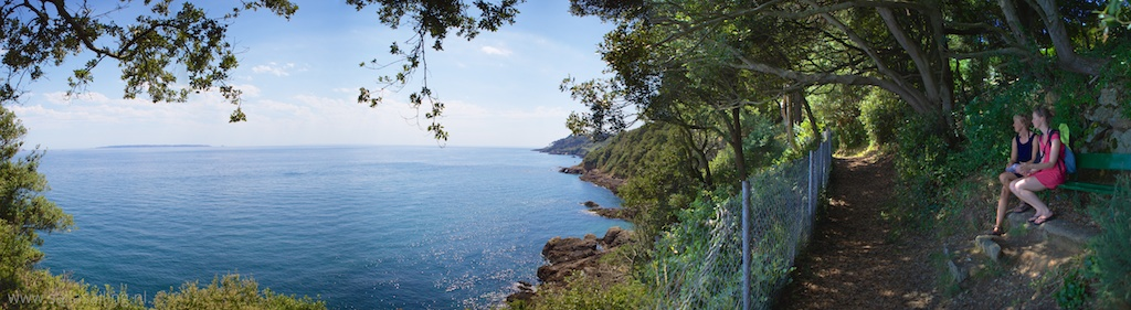 Panorama vanaf het cliff path