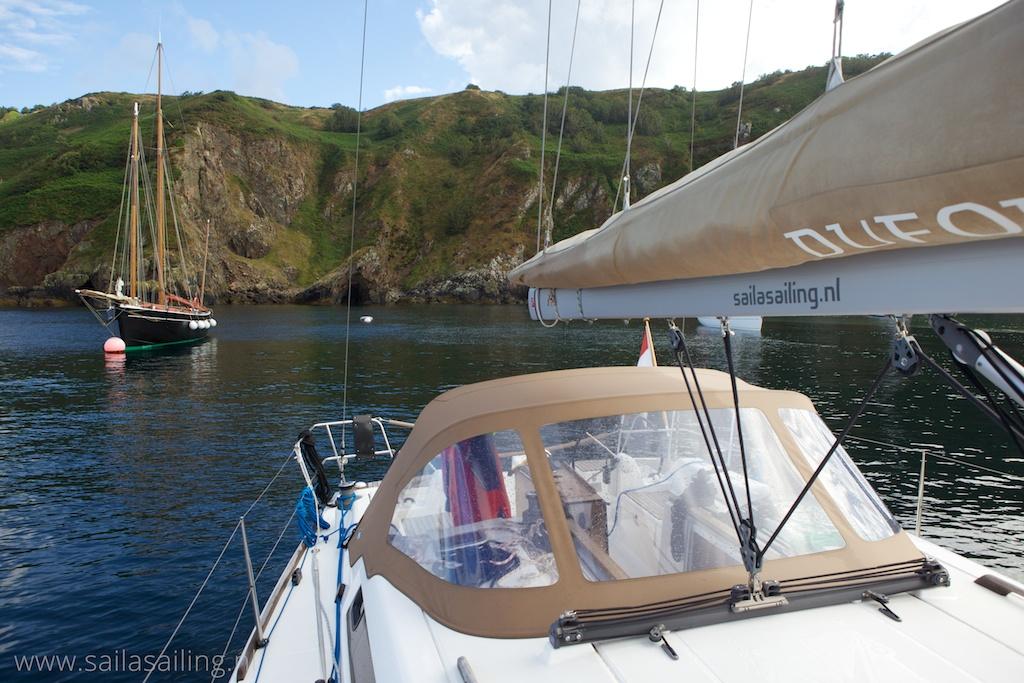 Prachtig uitzicht vanaf de boot