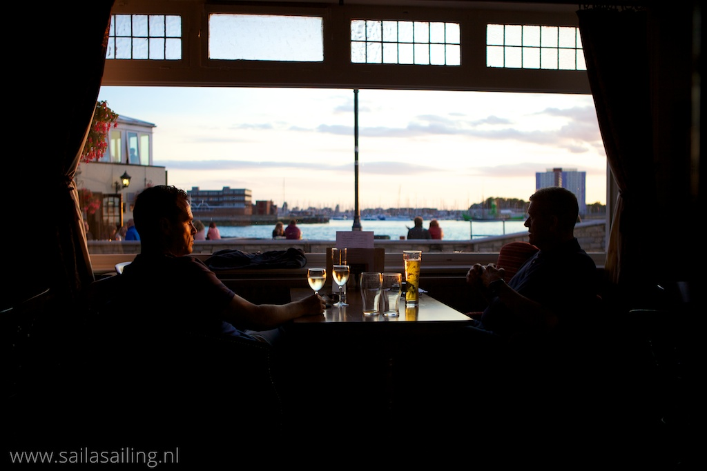 Uitzicht vanuit het restaurantje